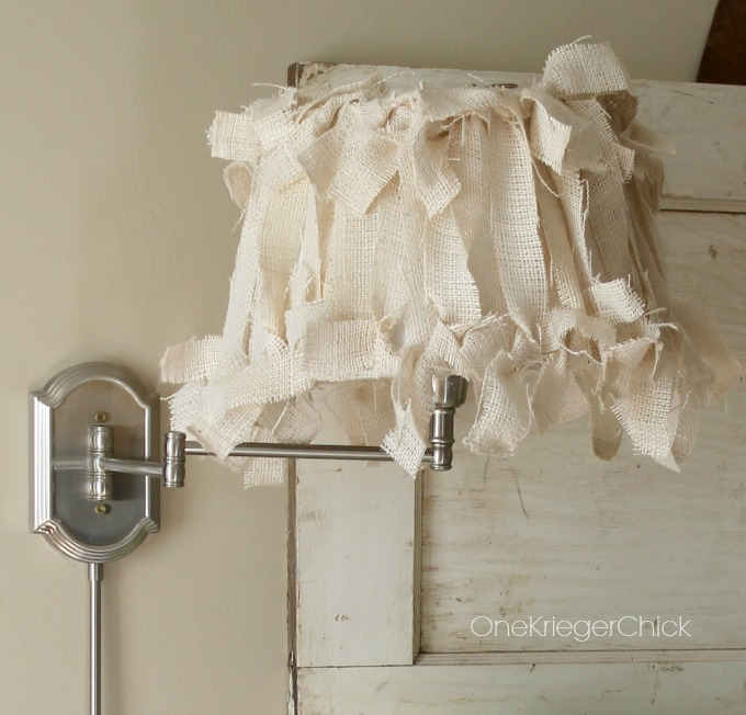 Burlap covered lampshade in 4 easy steps onekriegerchick aloadofball Image collections