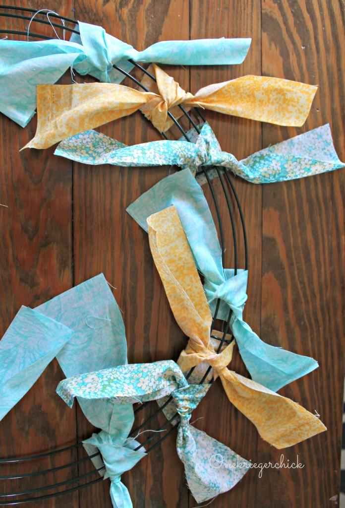 easy  diy fabric scrap wreath