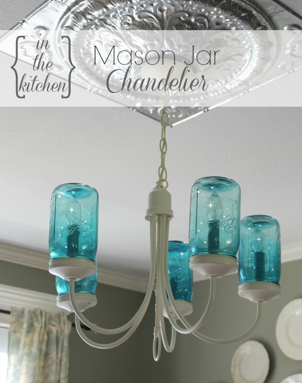 Mason jar chandelier sytyc onekriegerchick it was definitely time for a makeover so i decided to give my existing chandelier an update and create a mason jar chandelier aloadofball Images