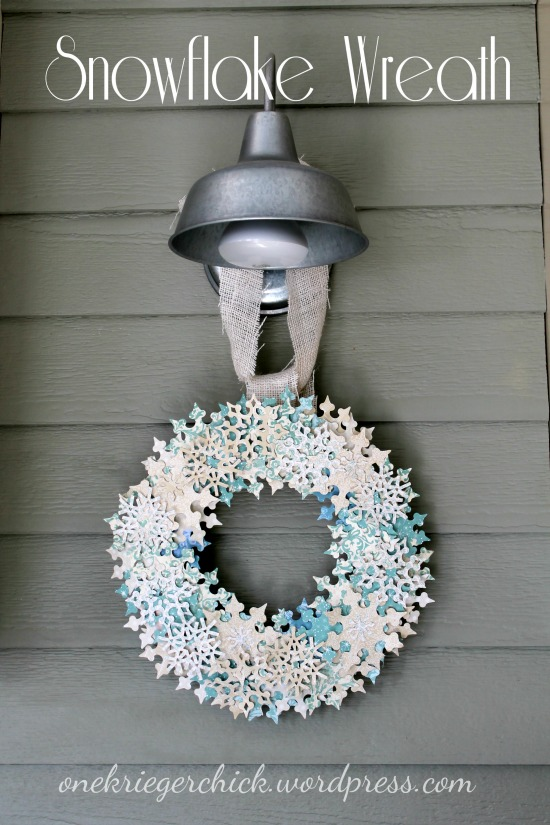 DIY Snowflake Wreath at OneKriegerChick