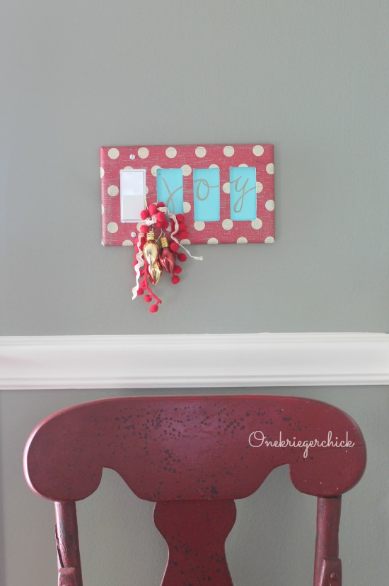 oy Holiday Switch plate makeover