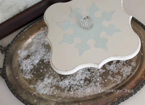 Dessert Pedestal {Poppy Seed Projects plaque}
