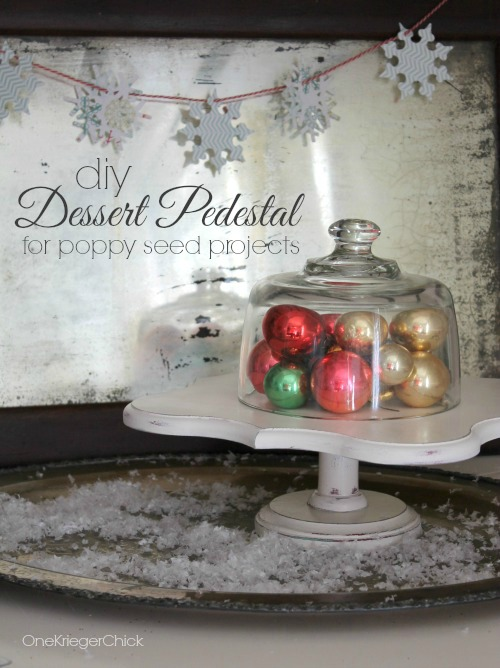 Dessert Pedestal made with Poppy Seed Projects Eleanor Plaque {no tools required!}