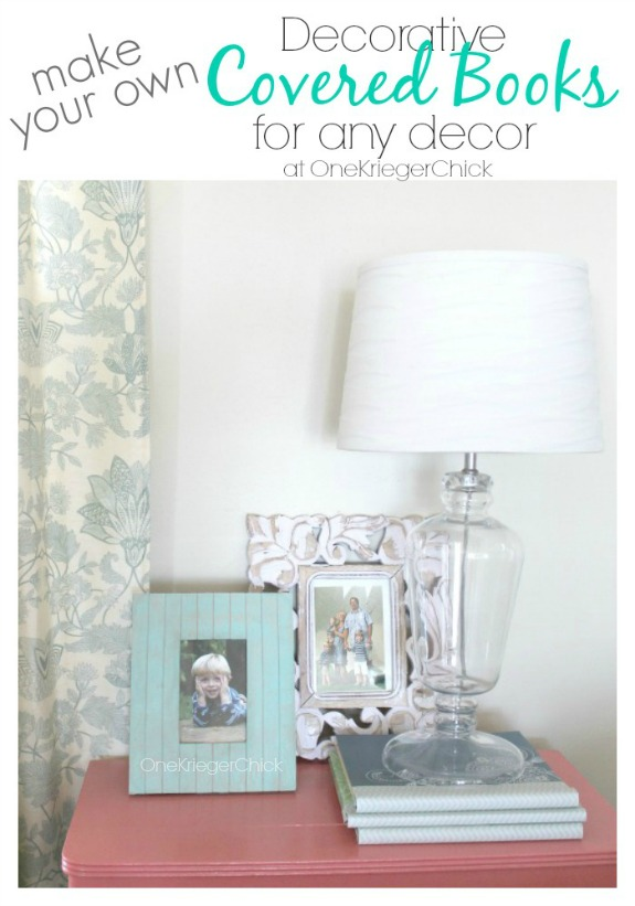 How To Make A Decorative Book Cover : Make your own decorative covered books onekriegerchick