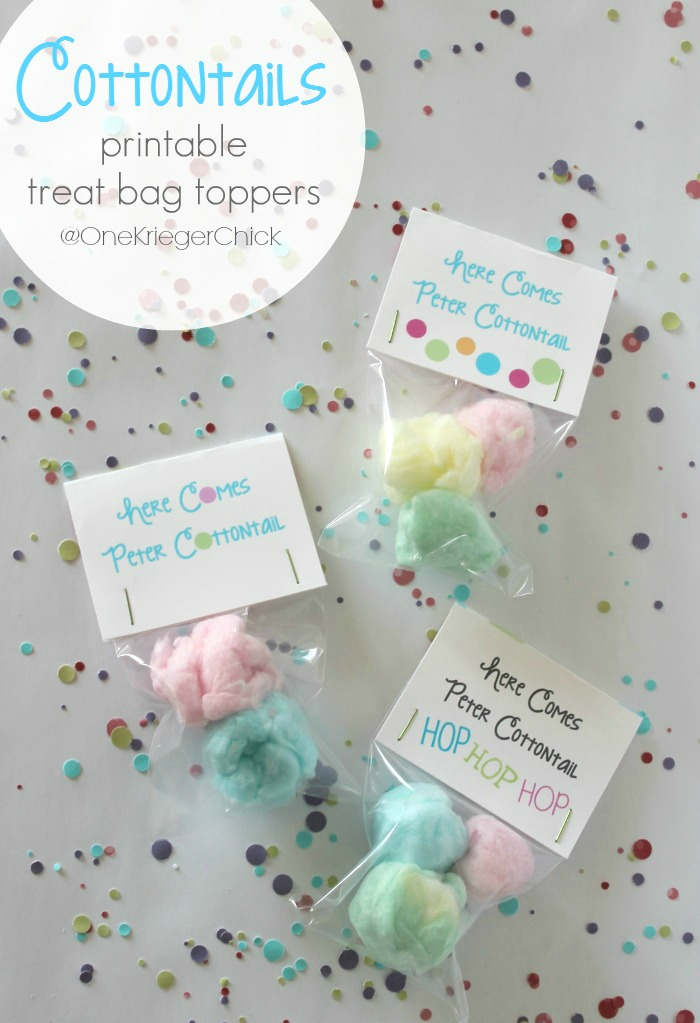 Cottontail treats with printable bag topper onekriegerchick so im kind of excited to share this fun little cottontail treat idea with you today negle Image collections