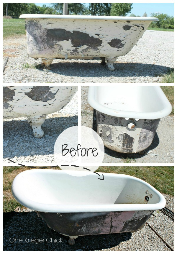 cast iron bathtubs are very heavy and the porcelain can chip easily i was lucky to have the assistance of mr on this