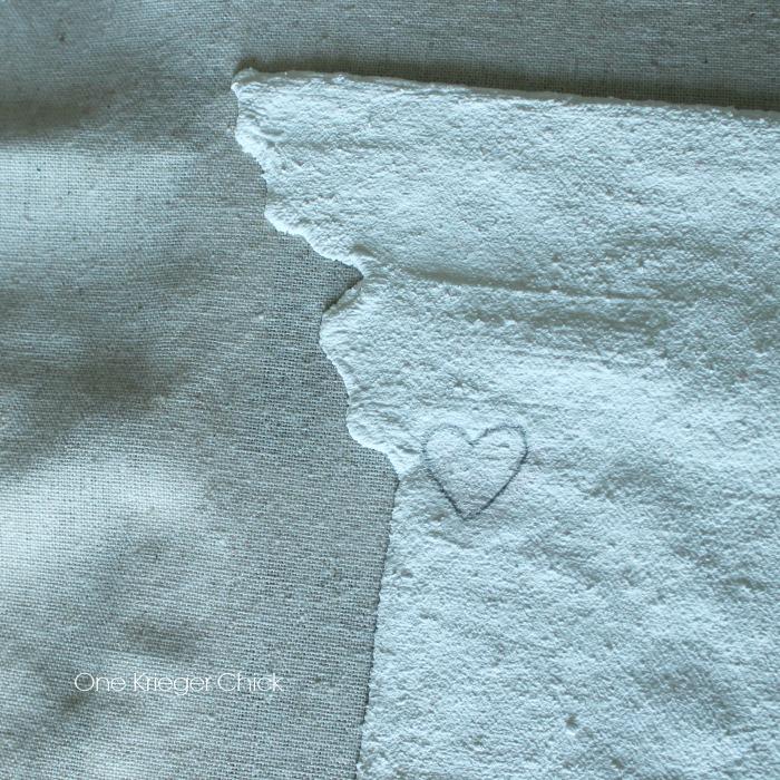Velveteen State Love PIllow- Heart for Home