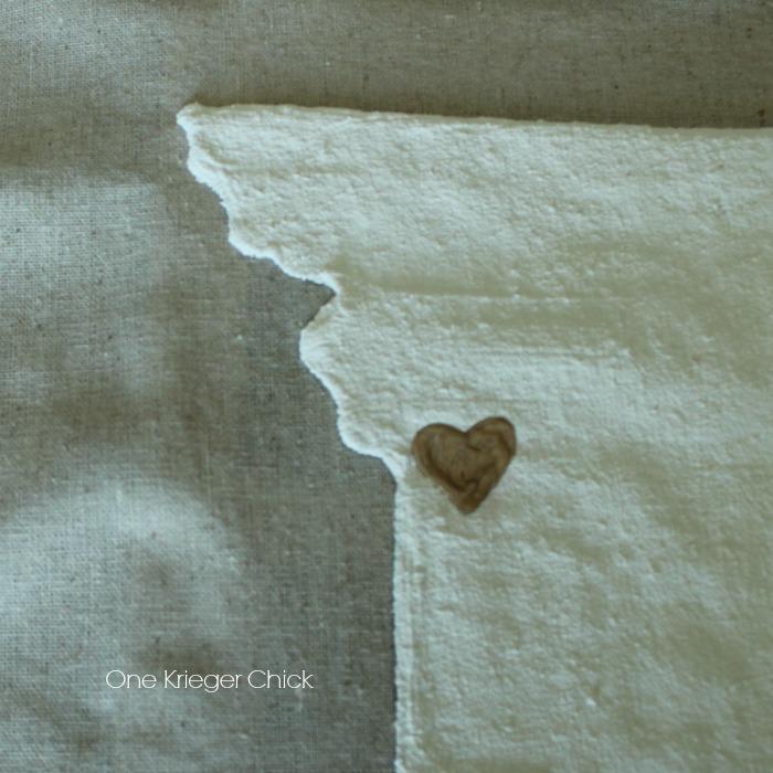 Velveteen State Love Pillow- gold painted heart