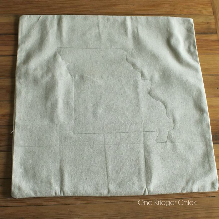 Velveteen State Love Pillow- ready for paint