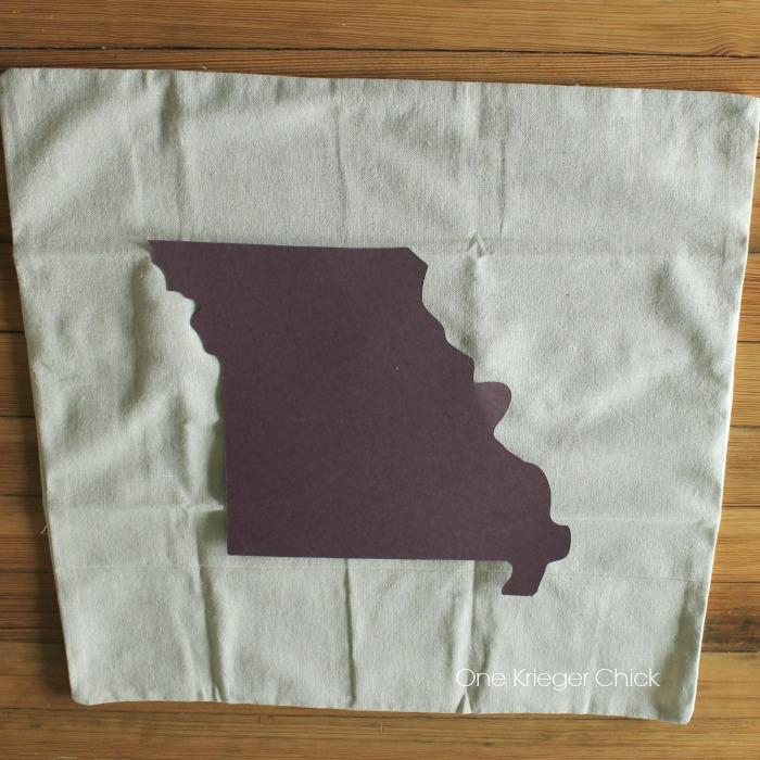 Velveteen State Love pillow template