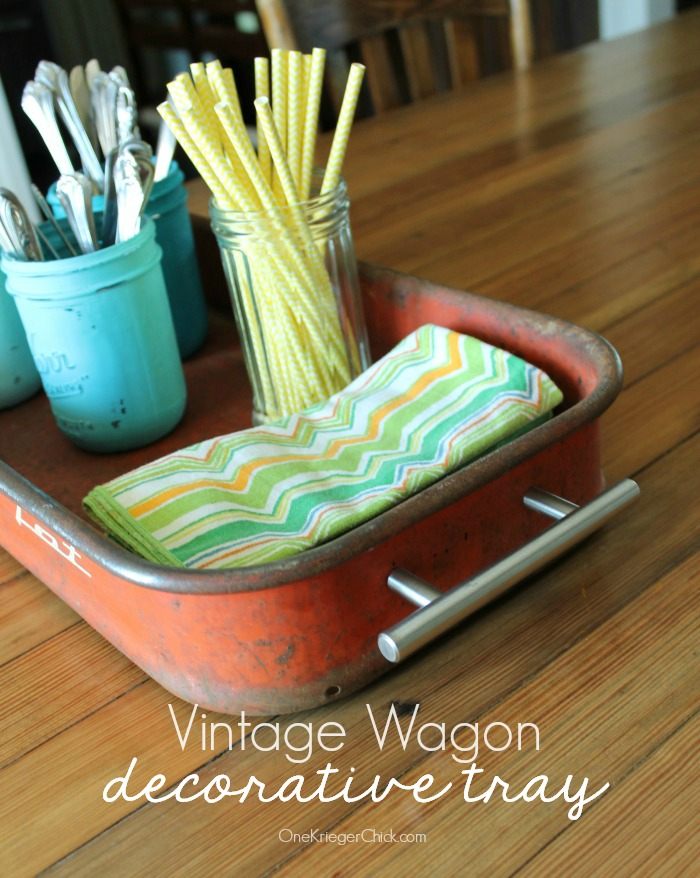 How to turn a Vintage Wagon into a decorative tray