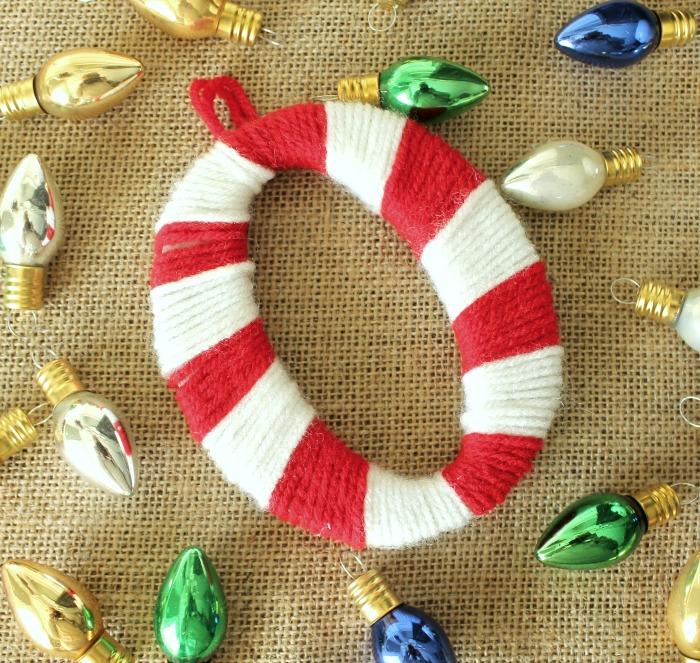 Yarn Wrapped Monogram Ornament - onekriegerchick