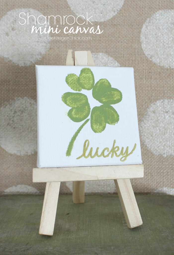 Shamrock-mini-canvas-Fun Fingerprint Artwork- OneKriegerChick.com