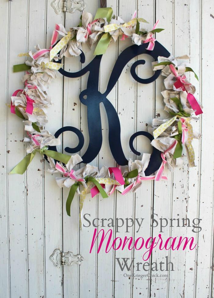 M Is For Monogram Scrappy Spring Wreath Onekriegerchick
