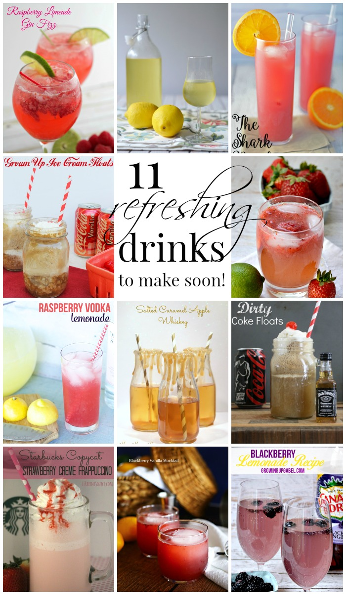 11 Refreshing Drinks you'll want to make soon!  As featured on OneKriegerChick.com