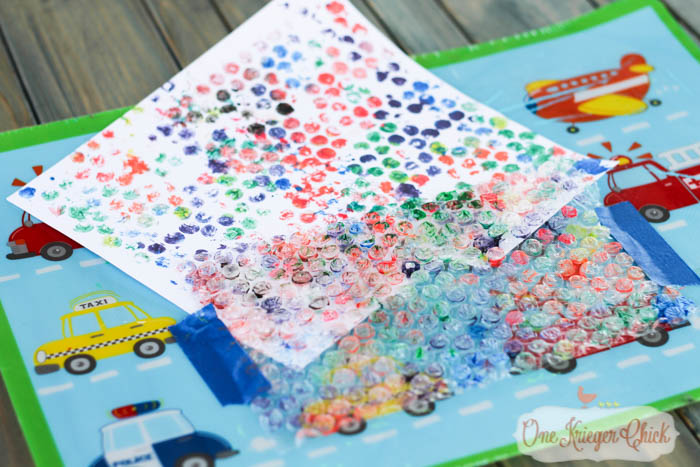 Bubble Wrap paintings- fun for kiddos and makes unique artwork for you-9- OneKriegerChick.com-1