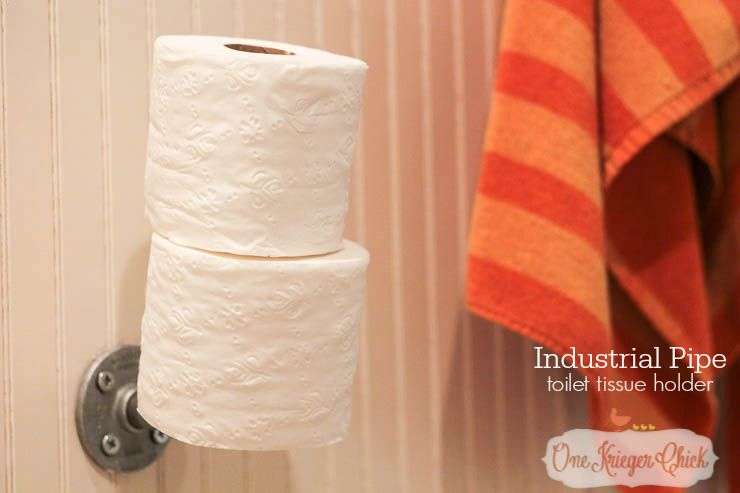 Industrial Pipe Toilet Tissue Holder-make in about 5 minutes!!-OneKriegerChick-2