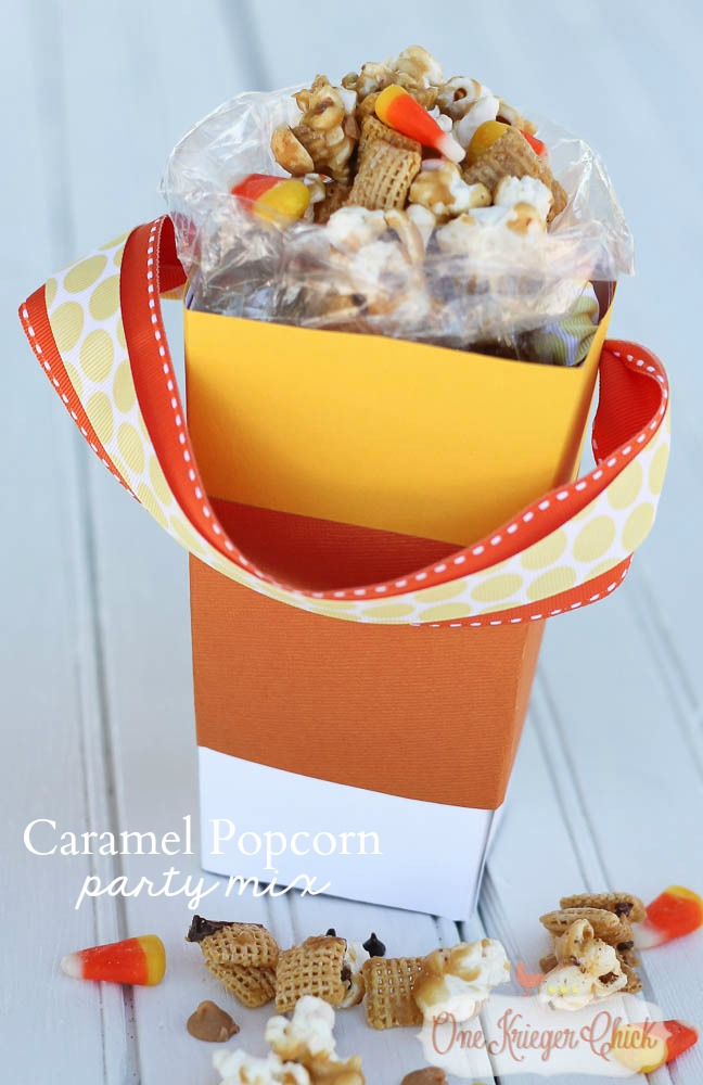 Caramel Popcorn Party Mix & Popcorn Box Blog Party! - onekriegerchick