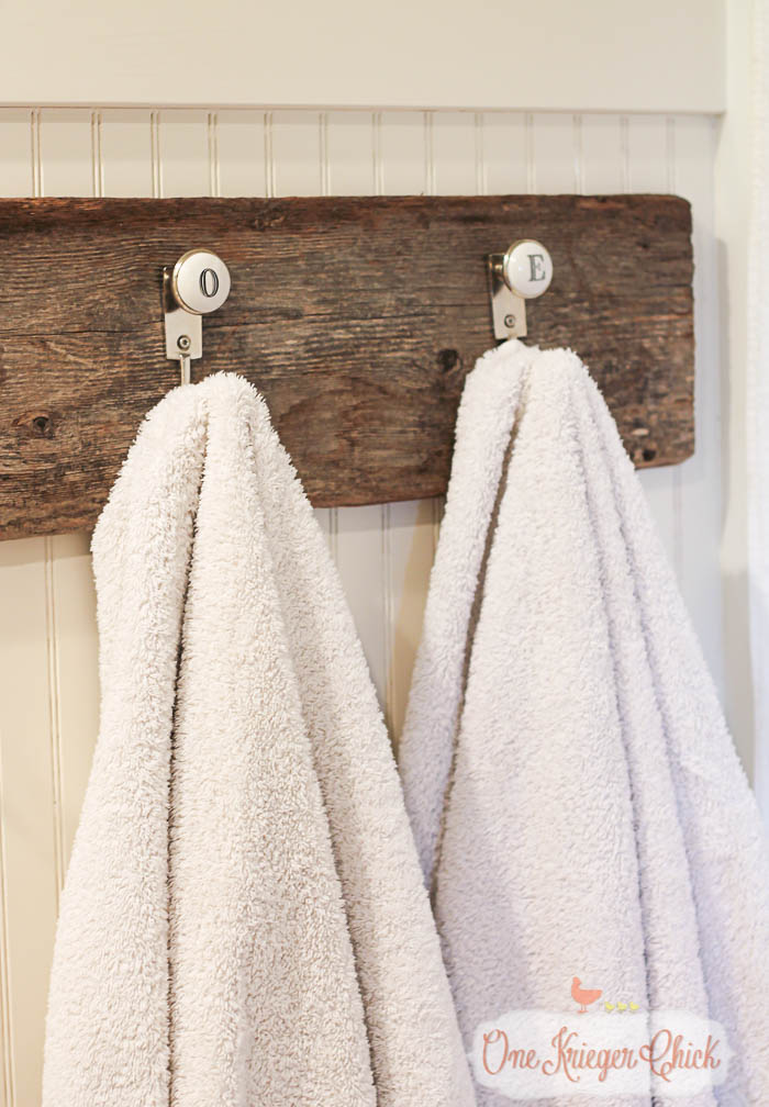 Country Style Monogrammed Towel Hooks- OneKriegerChick.com