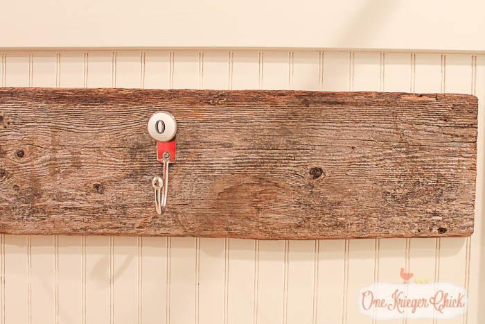 Monogrammed Towel Hook- OneKriegerChick.com