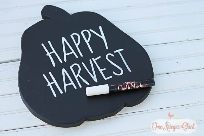 Reversible Fall Sign- chalkboard writing - OneKriegerChick.com