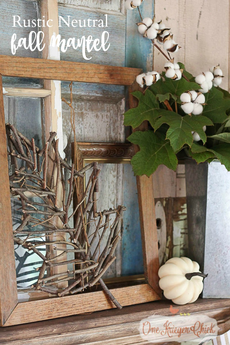 Rustic Neutral Fall Mantel 5-OneKriegerChick.com