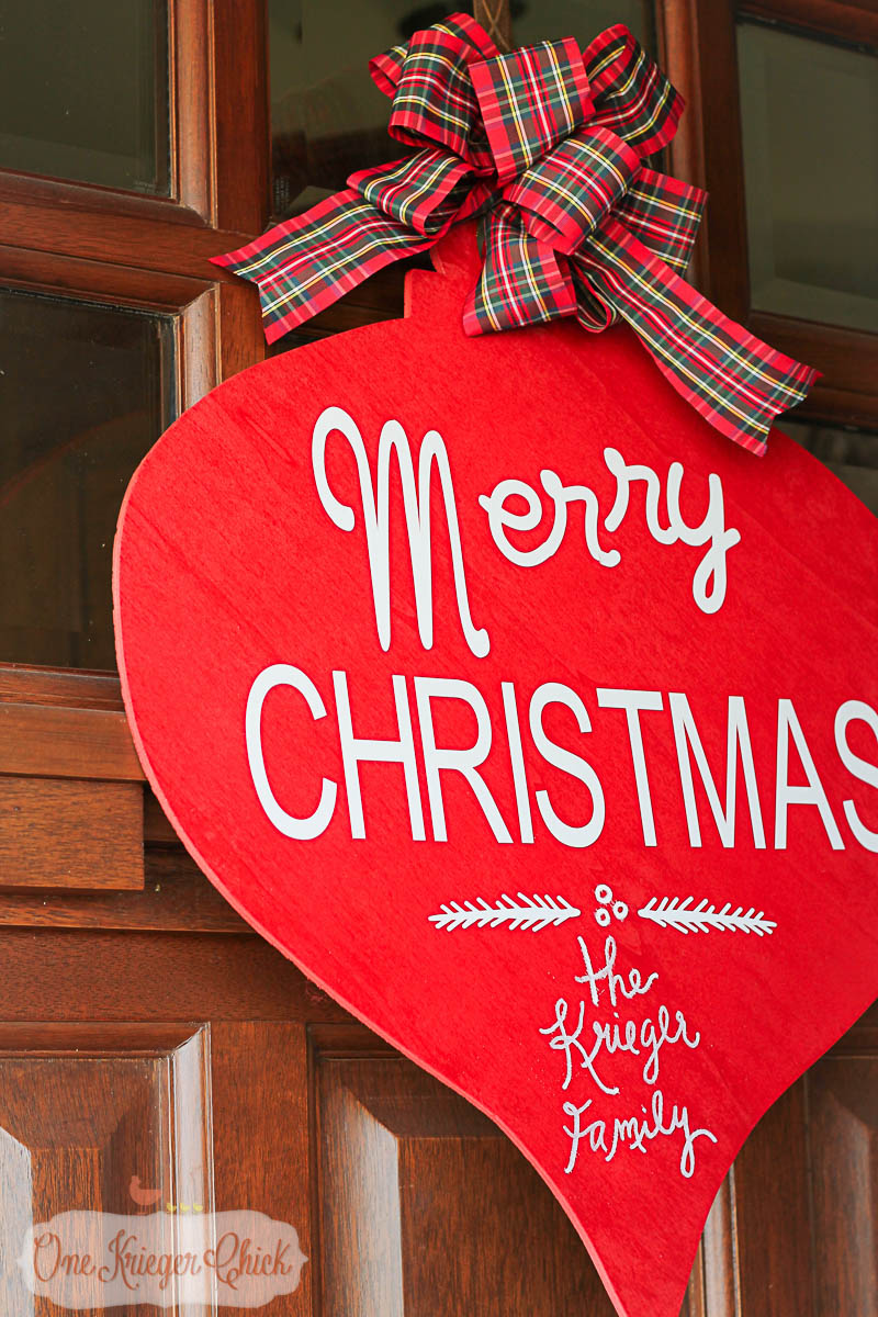 Pottery Barn Inspired Merry Christmas Sign- OneKriegerChick.com-9487