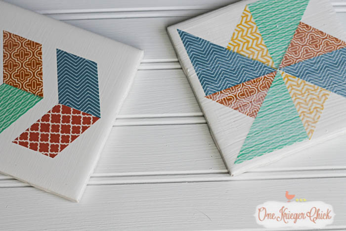 Quilt Block inspired Coasters-feature 2-4 OneKriegerChick