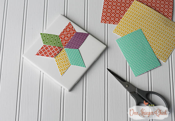Quilt Block inspired Coasters-feature 2-6 OneKriegerChick