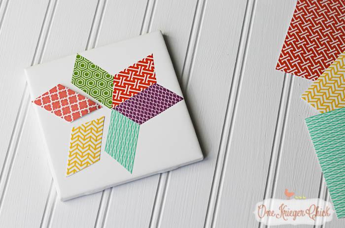 Quilt Block inspired Coasters-feature 2-7 OneKriegerChick