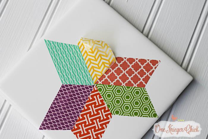 Quilt Block inspired Coasters-feature 2-8 OneKriegerChick