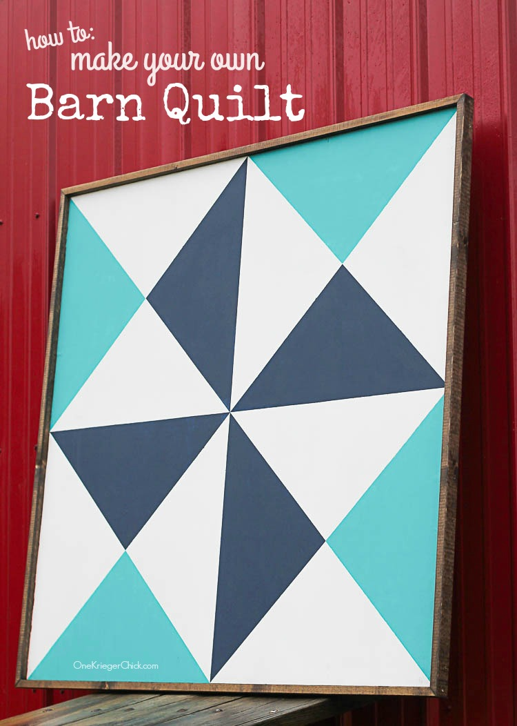 How to Make your own Barn Quilt with Step by step instructions!- OneKriegerChick.com