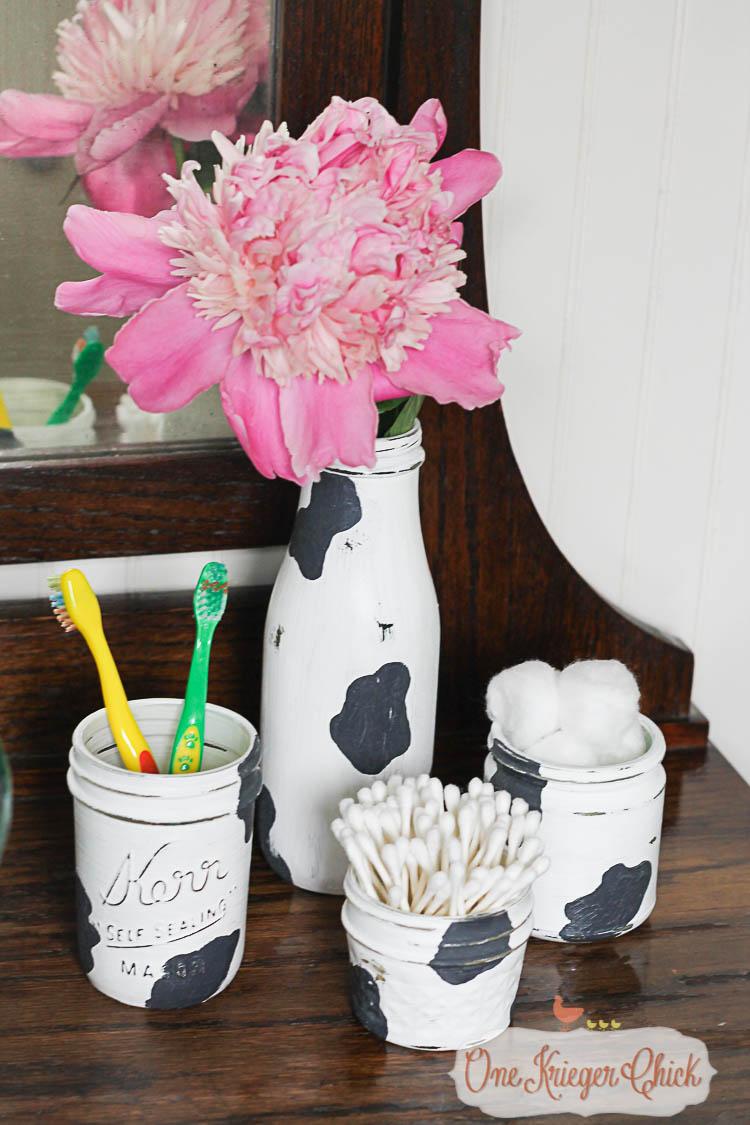 Cow Print Vanity Set-11- OneKriegerChick.com